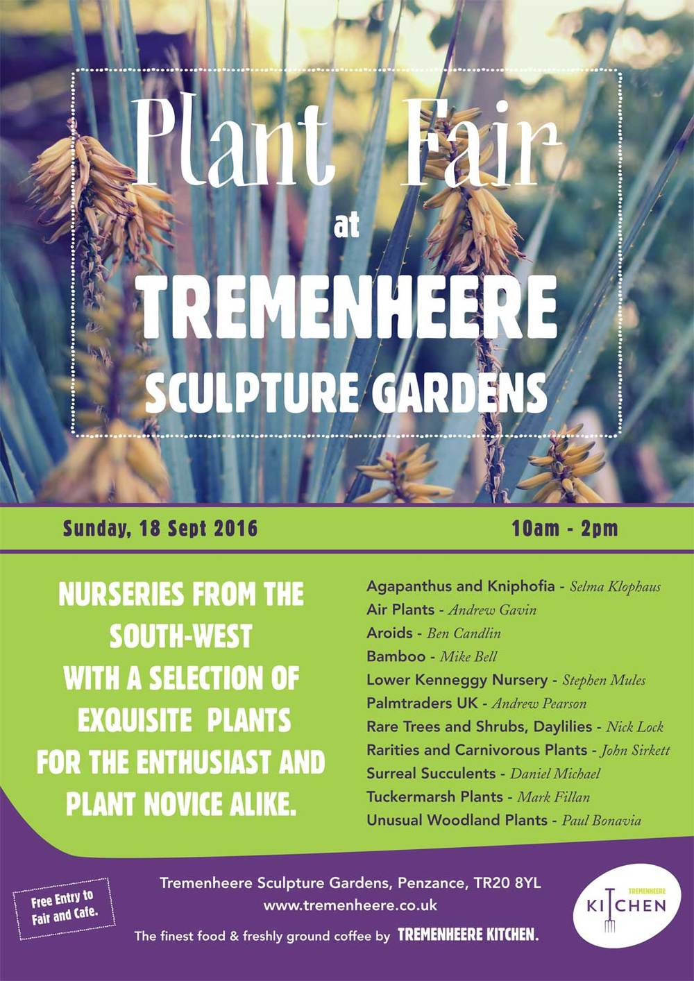 Tremenheere Plant Fair Poster. See you soon! 18th September 2016