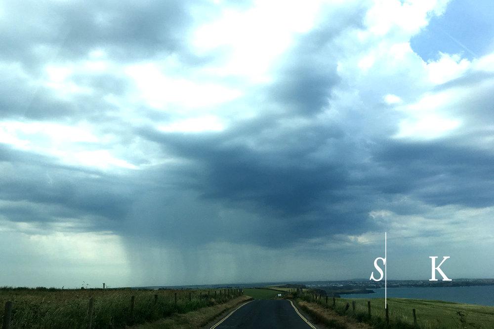 Summer rain in Cornwall