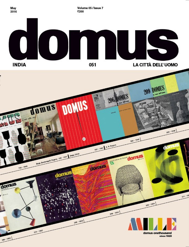 Interview in Domus India, May 2016