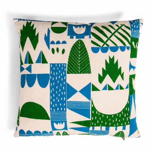 Leon cushion in turquoise and green, go very nicely with our chairs
