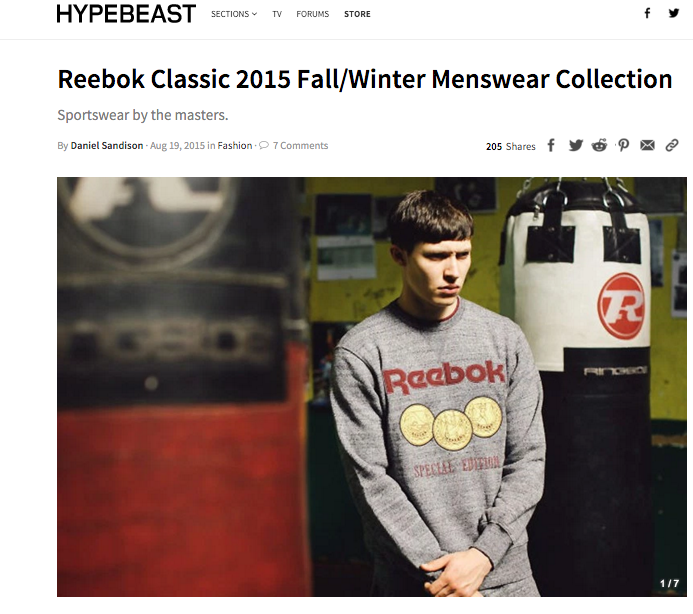 HYPEBEAST - Reebok Classic 2015 Fall/Winter Menswear Collection