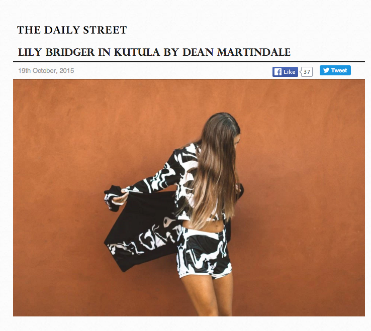 THE DAILY STREET -  LILY BRIDGER IN KUTULA BY DEAN MARTINDALE