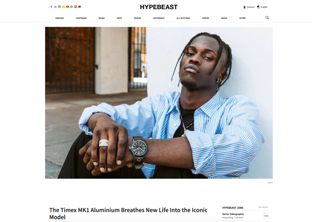 Hypebeast feature