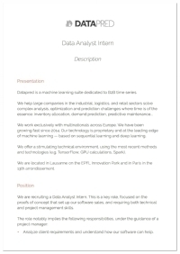 Data Analyst Intern
