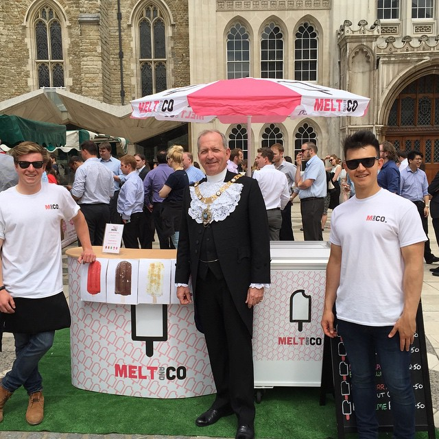 #tbt Enjoyed meeting the Lord Mayor last time out at the Guildhall. We're back again today so be sure to come and grab some gourmet iced goodness #guildhall #sun #summer #meltandco