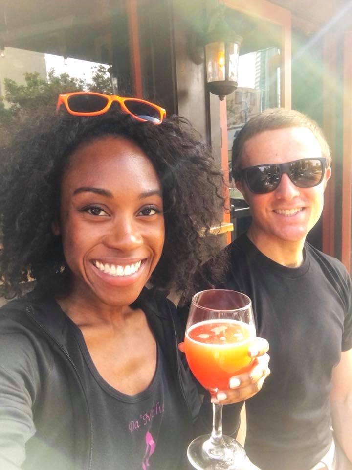 Blood orange mimosas at Werewolf.