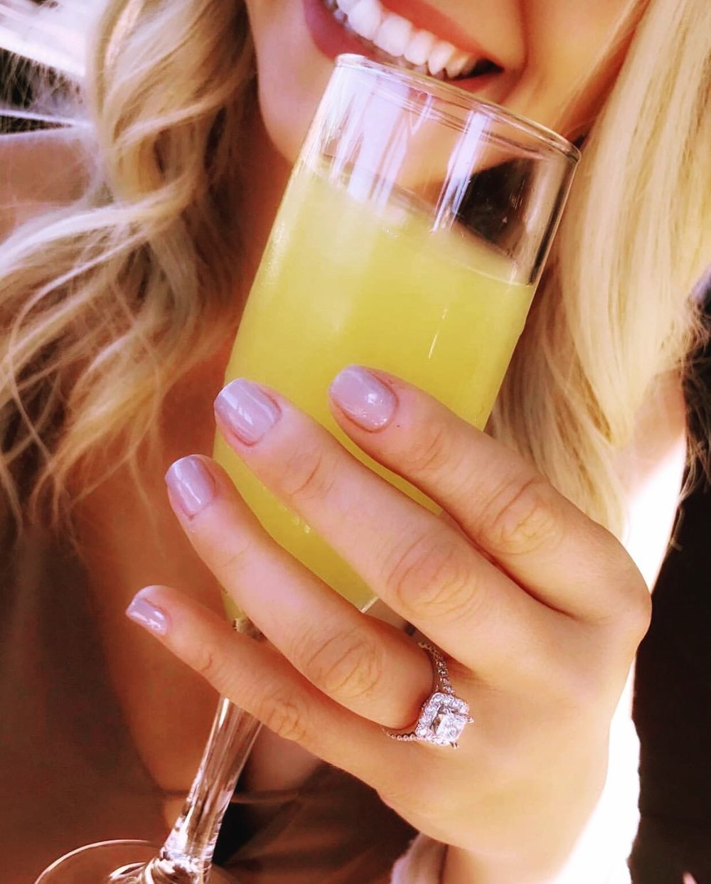 What's better than getting engaged and having a mimosa?! Congratulations, Cait, on your upcoming wedding! Check out all of her fun adventures @caitlinhosn on Instagram.