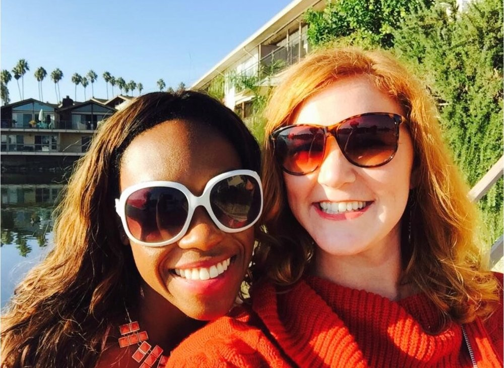 Me and my friend, Maggie, after she bought her beautiful home in California. Maggie had recently launched her business and we were brainstorming collab ideas and sharing advice on how to price our services. So much fun.in.the.sun.