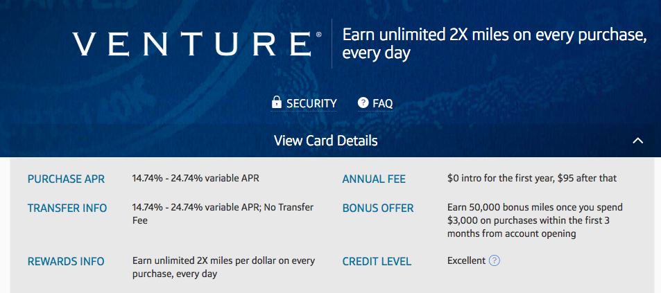Capital One Venture Card on Money & Mimosas