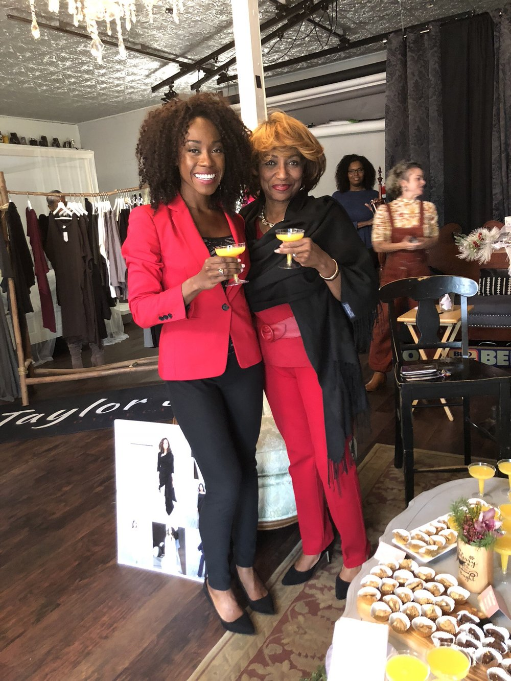 This is me and Wanda Wallis at a recent Walnut Creek Socialites event. She is one of my style icons! Always classy, modern yet timeless, and chic.