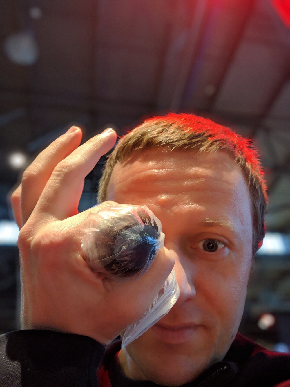 That's a cow's eyeball!