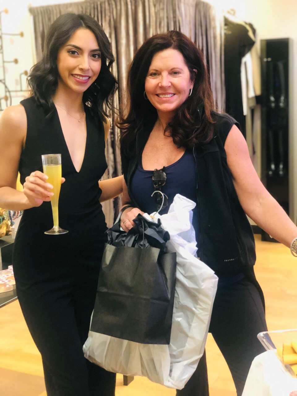 Socialite Alejandra with one of our shopping guests!