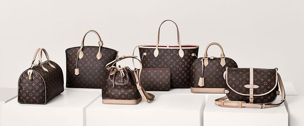 Eier du en veske fraLouis Vuitton blir det sett på som luksus.Har du i tillegg med monogram ikonerkan du enkelt vise tilmateriell. Bilde er hentet fra louisvuitton.com