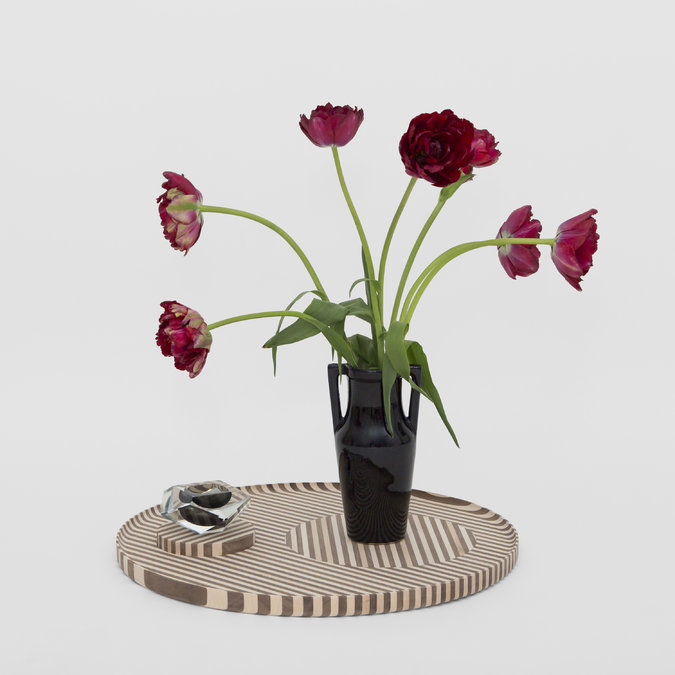 Bjørn Von der Berg & Bower (Danny Giannella and Tammer Hijazi) worked out these objects. They worked with dark and light wood and came up with a tray, bowl and a vase. Photo: nytimes
