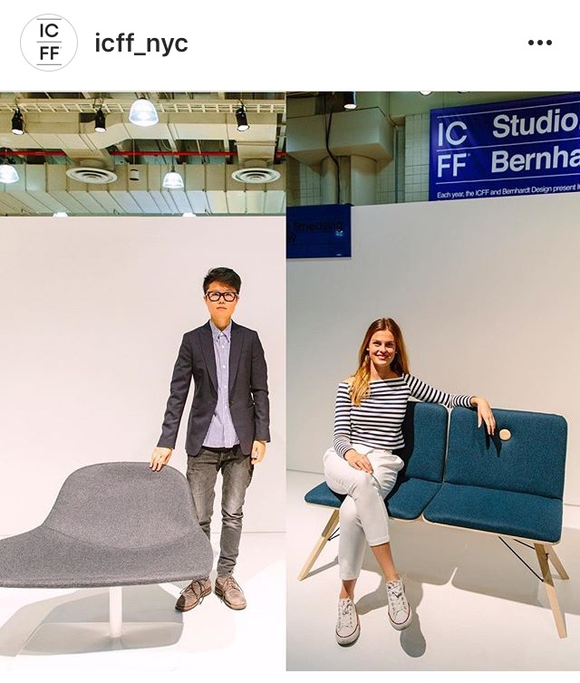 Two really inspiring young emerging designers whom were hand picked from our selective judges to participate in ICFF Studio last year. NOW is your chance to have your own space free of cost and present your project to the design world at #ICFFNYC2017 link in bio to Submit your design. Take advantage of this opportunity and you could land the spot here at ICFF NYC. #icffstudio #opportunity #emergingdesigners #talented #prototype