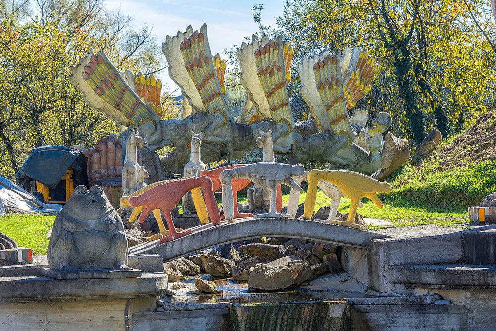 Wassergarten mit Sumpfhühner-Brücke