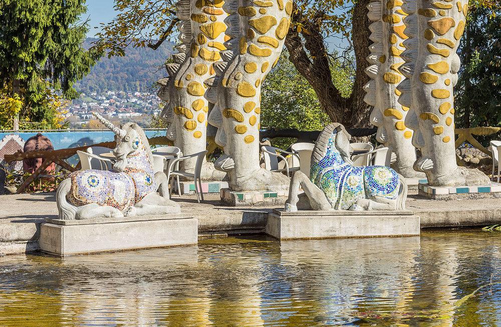 Einhorn im Wassergarten