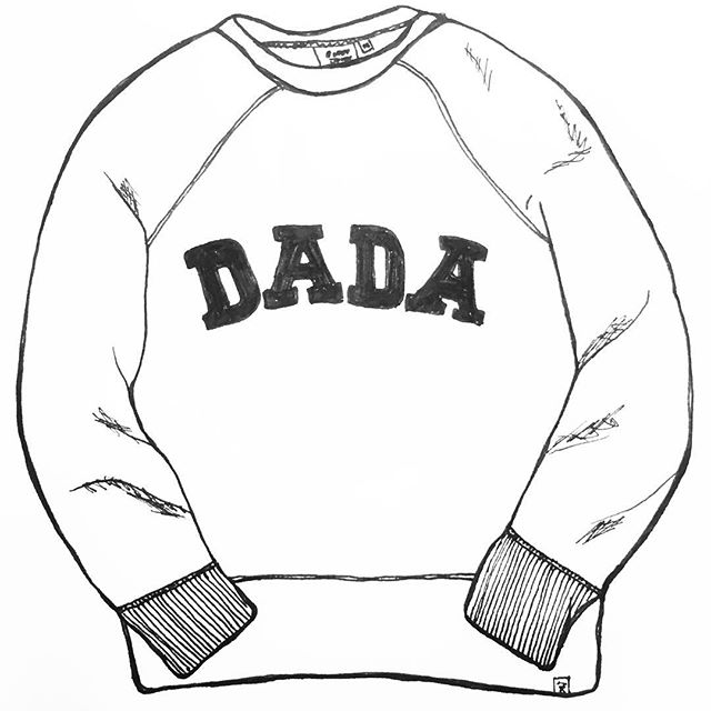 #sleepyjones #dada #sweats #sweatshirt #drawing #penandpaper #dailydraw #illustration #drawnbysarah