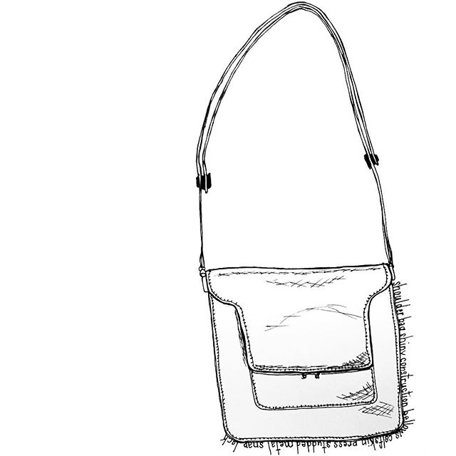 Marni Trunk bag  #marni #gold #yesplease #drawing #penandpaper #dailydraw #illustration #drawnbysarah