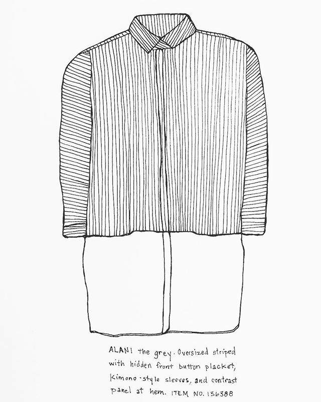 #apc #stripes #retailfashion #frenchfashion #blackandwhite #drawing #dailydraw #penandpaper #illustration #drawnbysarah