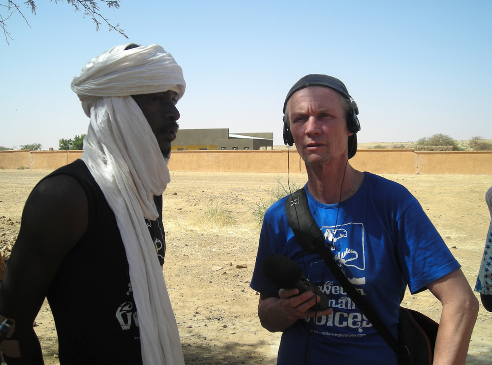 MC Talka and me during a guided tour in the Koïma village, 2010.