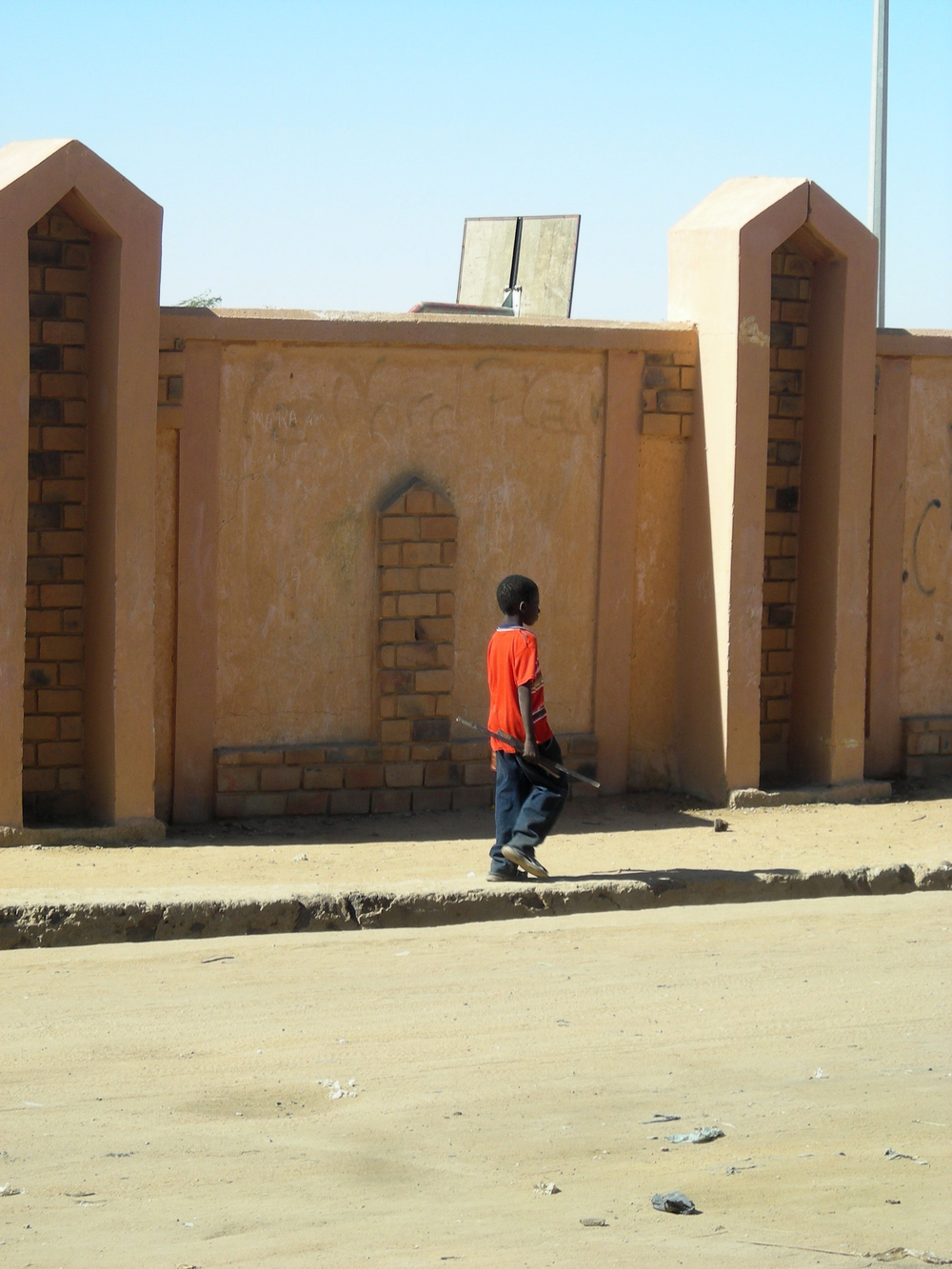 Boy outside the Stadium in Gao, Jan 2010.