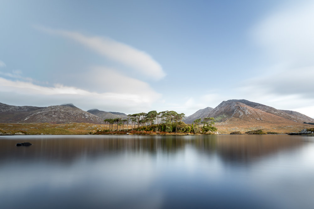 Pine Island on Derryclare Lough