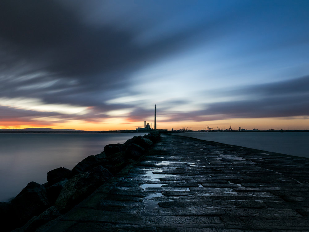 New Year's Day Sunset on the South Wall, Dublin