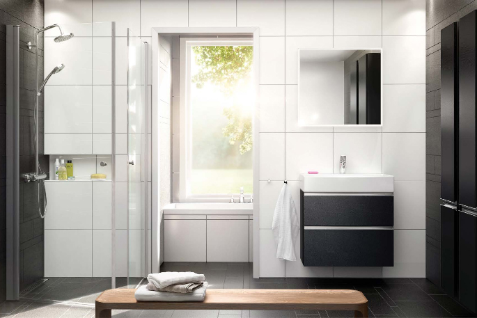 Bad - Bustadane har 2 bad, det eine på 7,2 m2 med plass til badekar.Bada vert levert med baderomsinnreiing frå Ballingsløv, modell Happie. Du kan som tilval byte til andre frontar i sortimentet om ønskelig.
