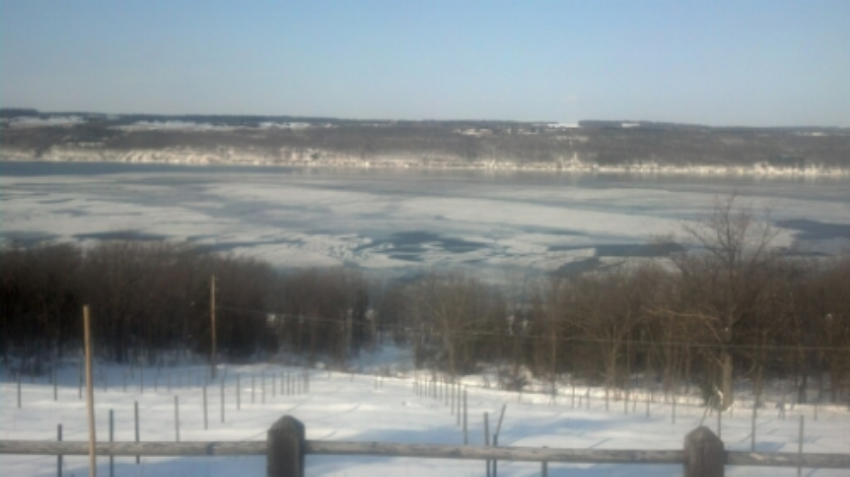 Seneca Lake freezing over, February 2015. Photo courtesy of Lou Damiani.