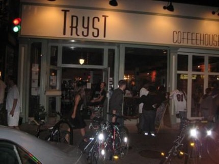 Tryst is an eco friendly coffee house in Adams Morgan DC.