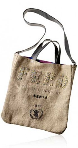 This FEED Project bag feeds two Kenyan kids school meals for one full year.