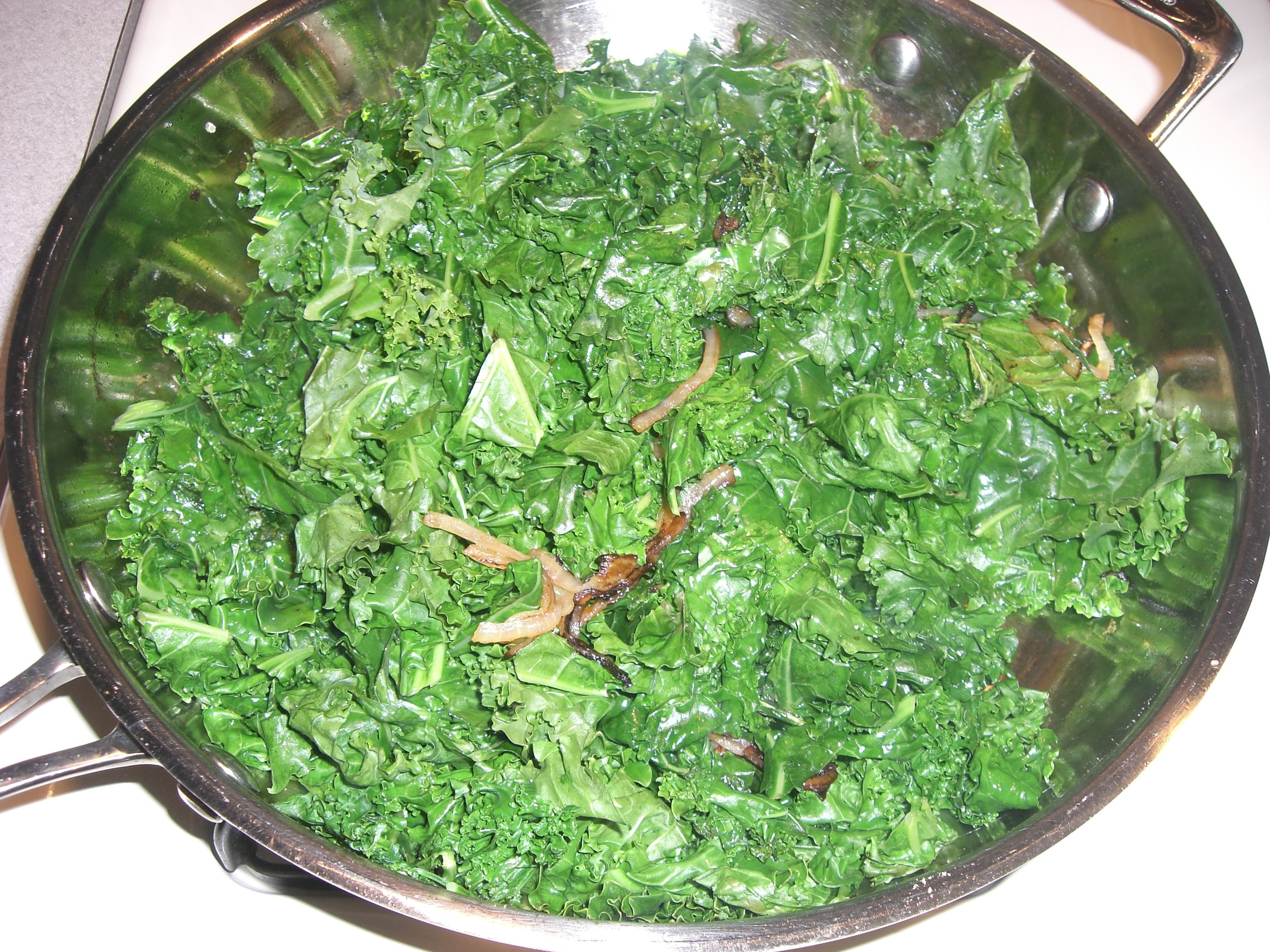 Kale with Fried Onions