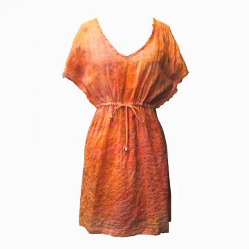This dress is eco-friendly and hand dyed.
