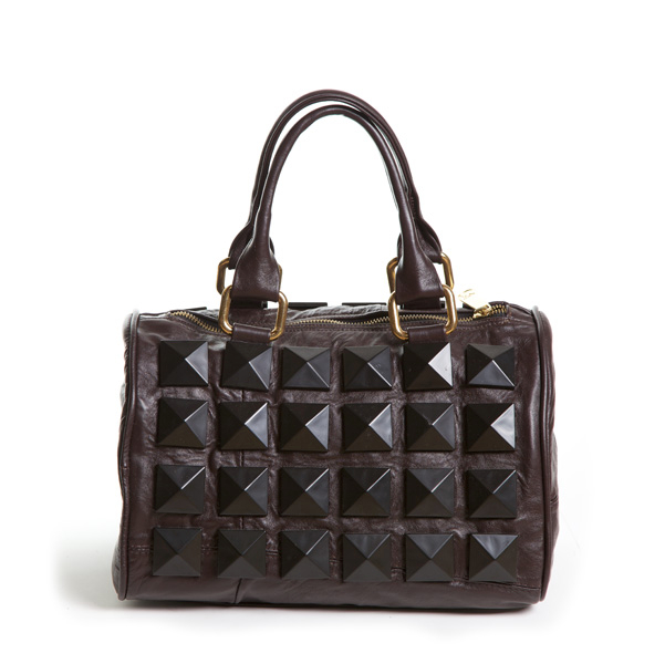 Novella Royale's bag made from recycled leather scraps.