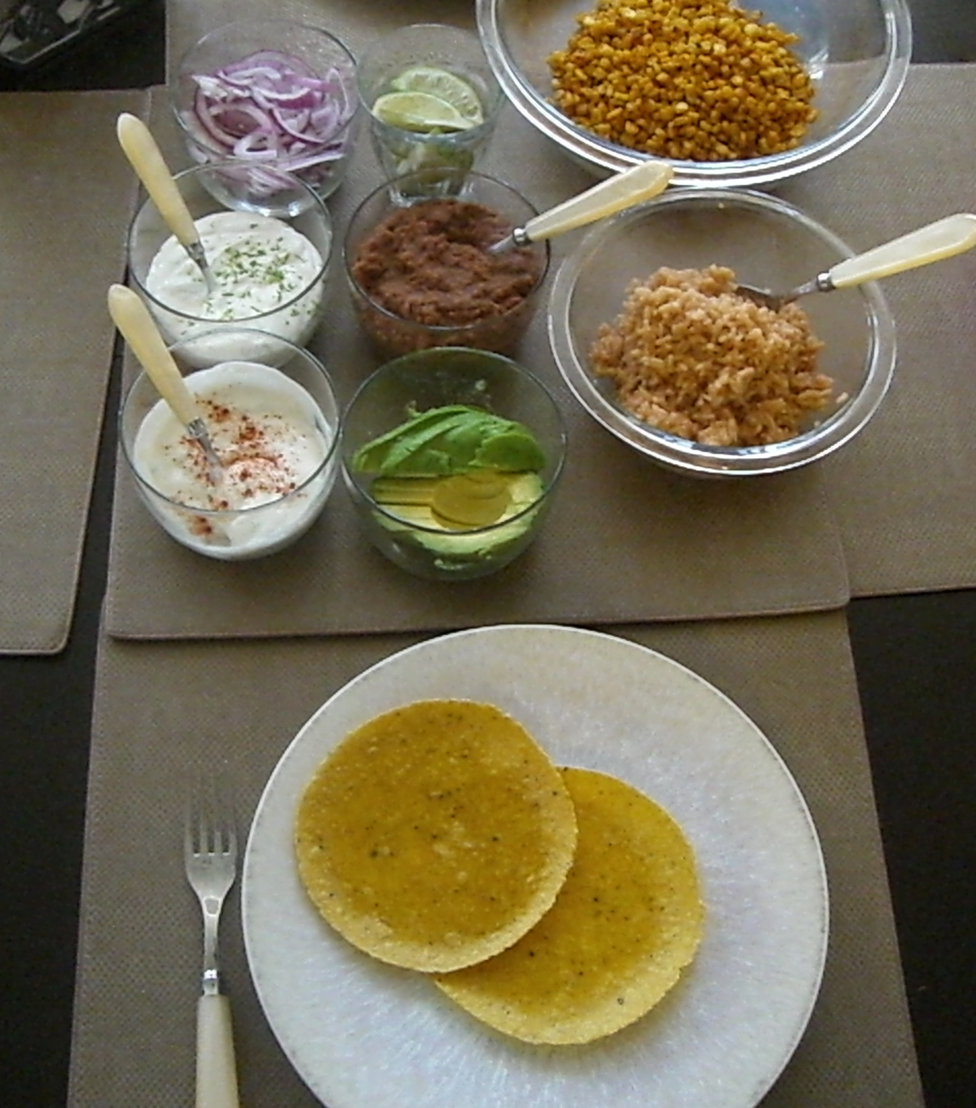 Look at all the makings of this vegan taco dinner!