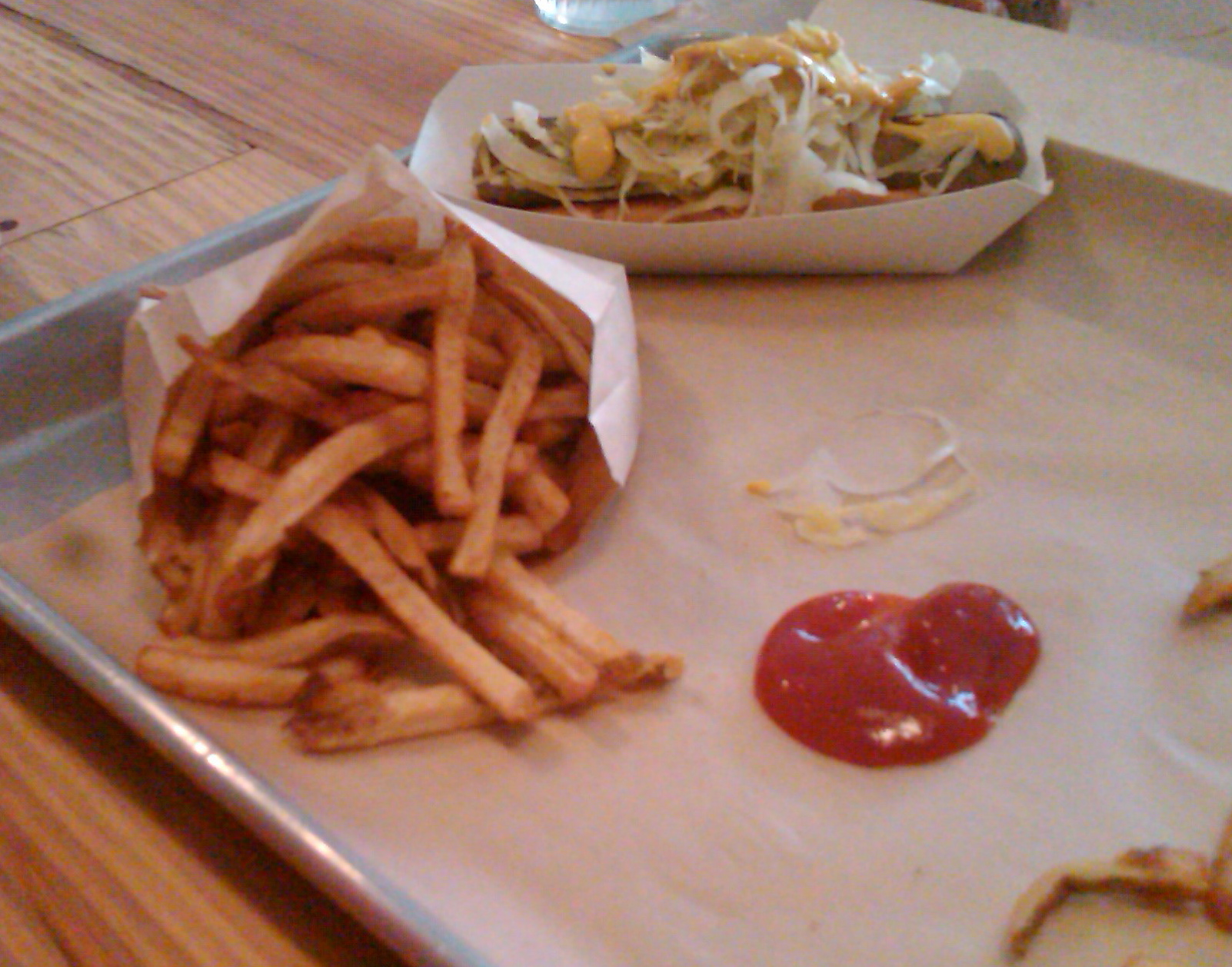 Amazingly Delicious Fries, the perfect compliment to a veggie dog.