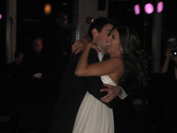 Dancing with Richie at my wedding