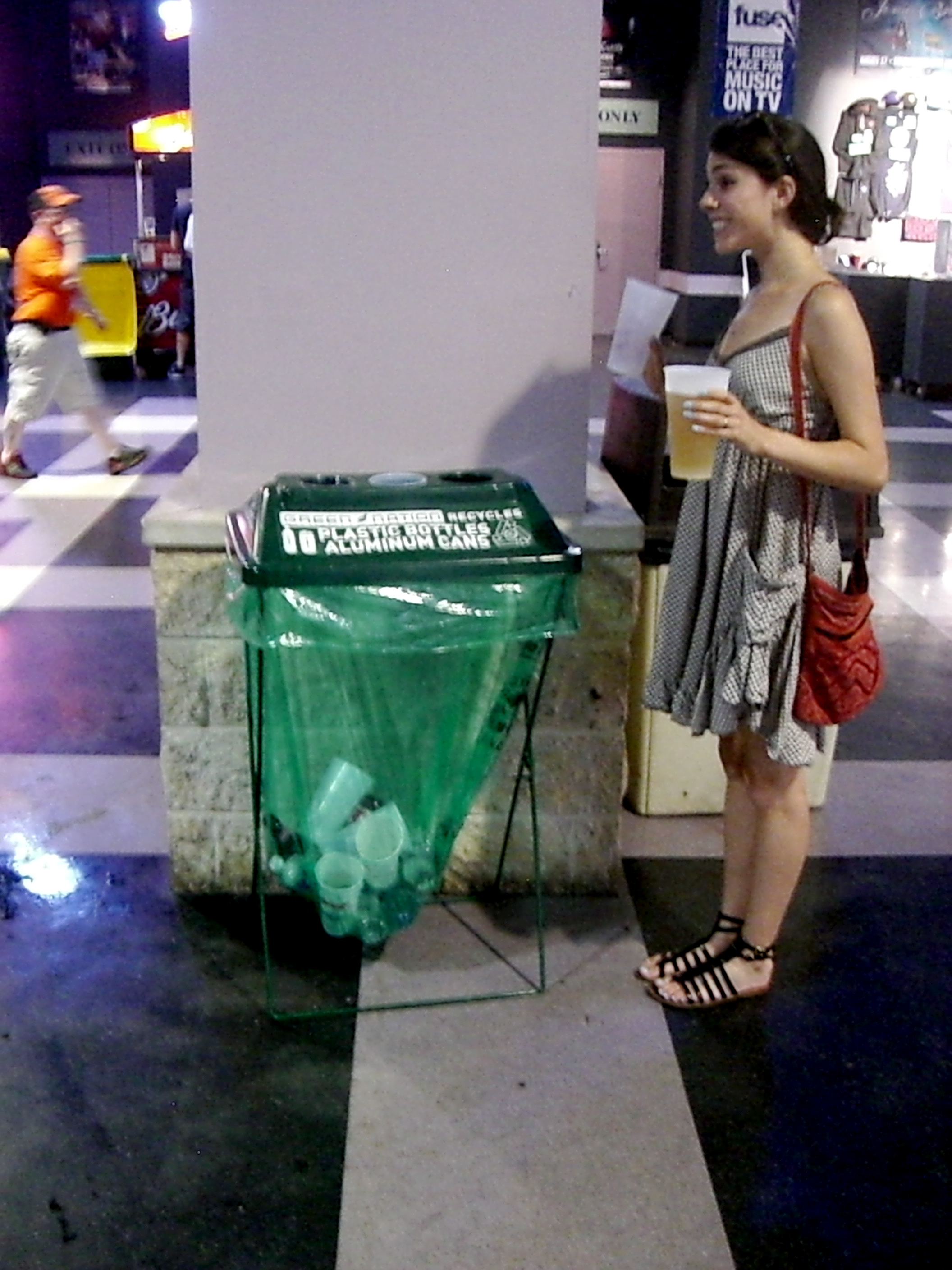 I loved that there was recycling throughout the concert venue.