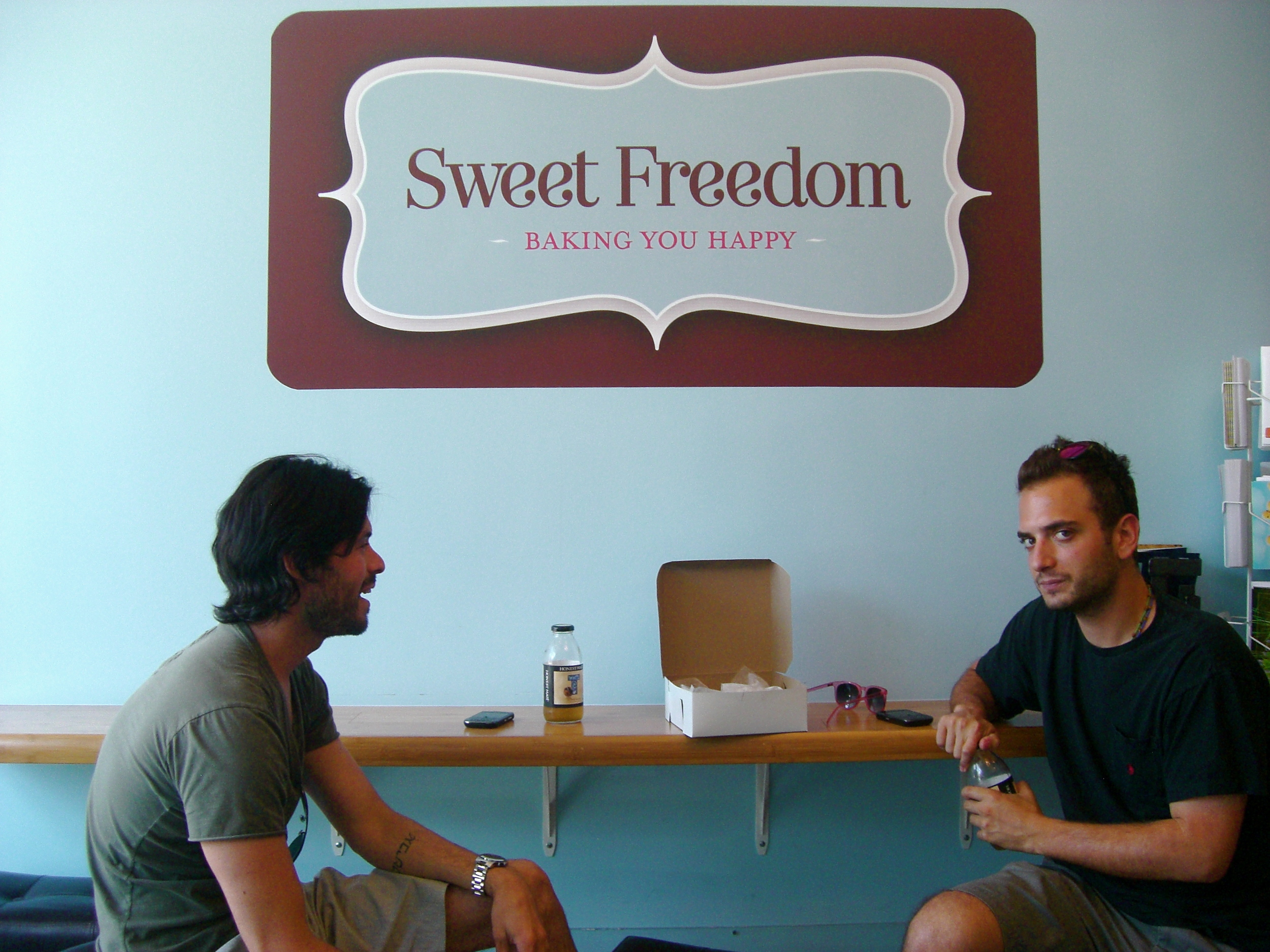 Richie and Benoit totally loved everything we tasted from Sweet Freedom Vegan Bakery!