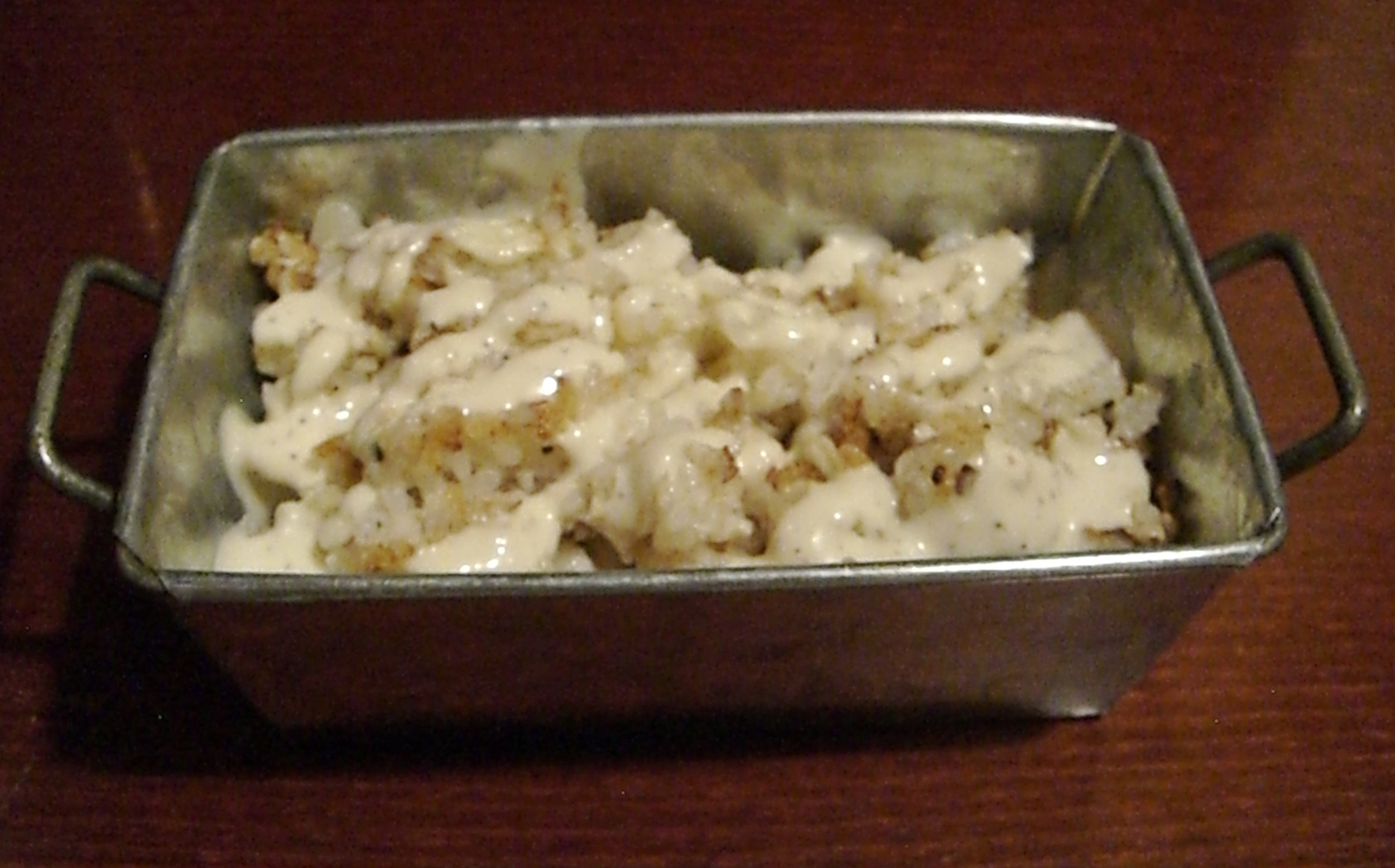 "This vegan cauliflower ""rice"" with truffle sauce was so delicious it could accompany any meal vegan or otherwise."