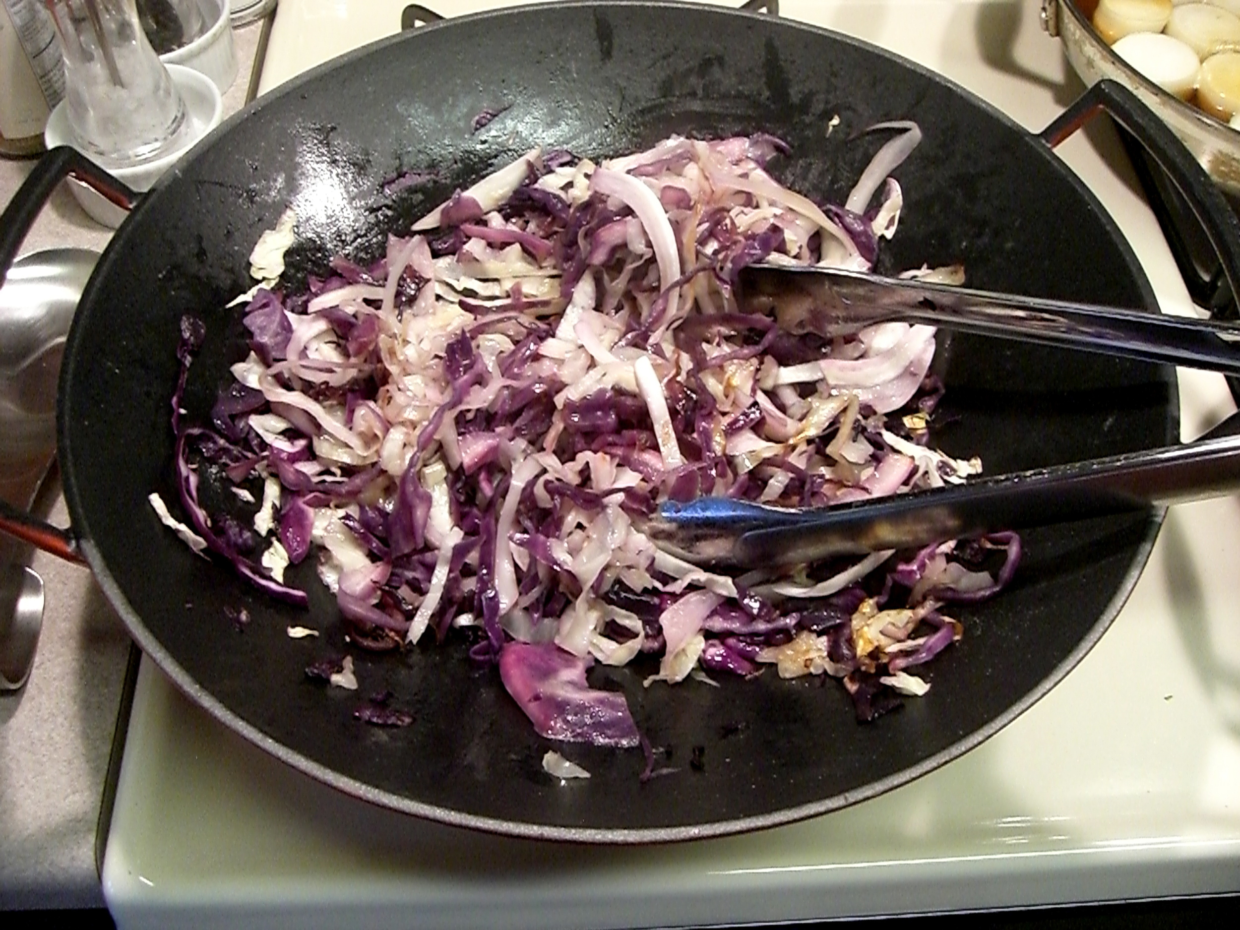 This vegan truffled cabbage is one of Richie's favorite dishes.