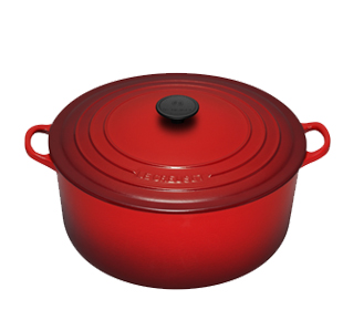 This Le Creuset is my favorite pot to cook vegan soups in.