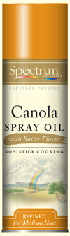Spectrum Canola Spray Oil Butter Flavor is the perfect thing for making popcorn taste movie theater fresh!