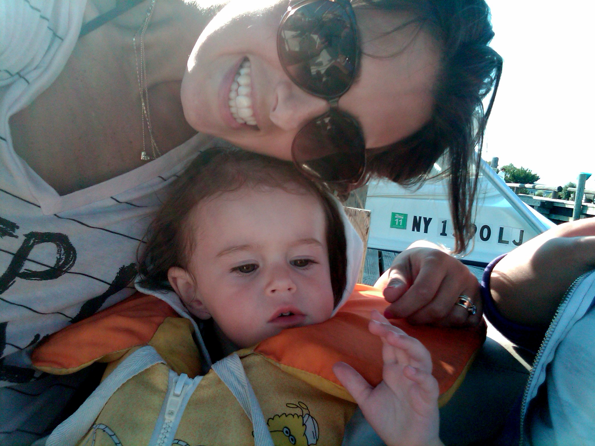 Boating with Avital in the hamptons