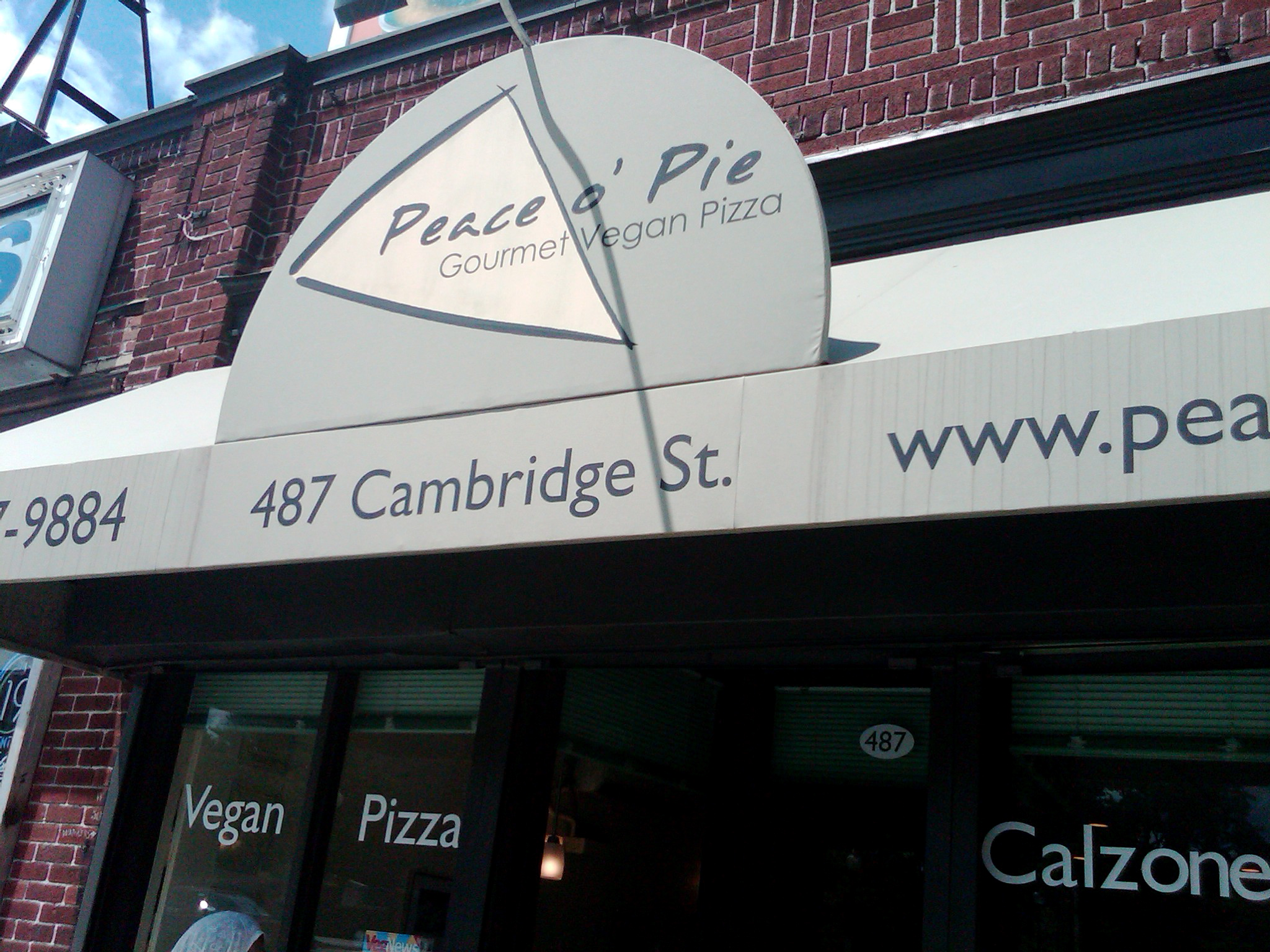 Peace 'o Pie was a fabulous place to grab a slice (or a pie) of vegan pizza.