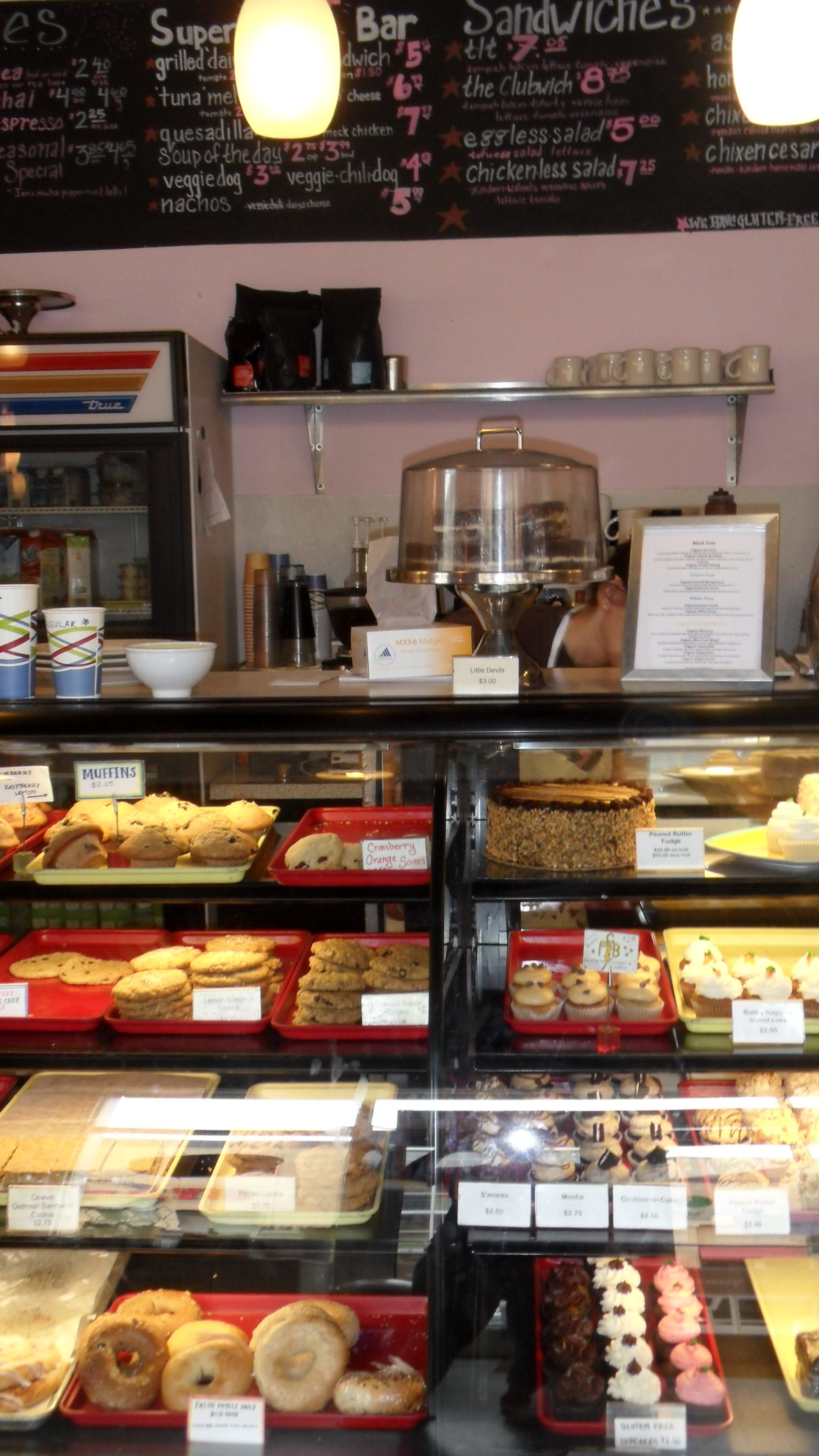 Sticky Fingers vegan Bakery counter looks just as amazingly delicious as it is!