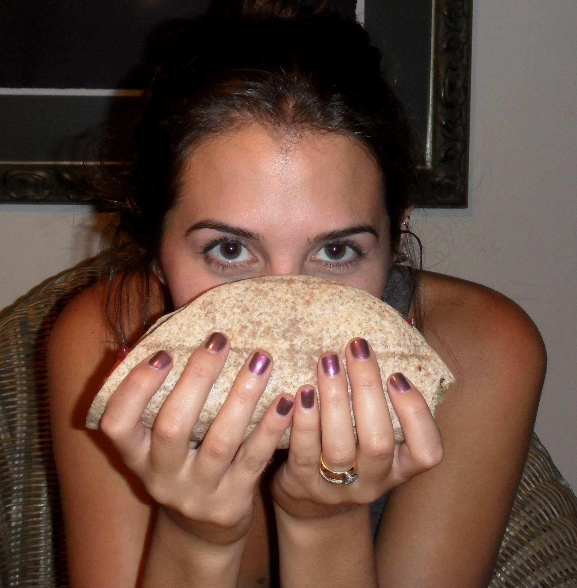 This vegan taco/burrito was so uber delicious and almost the size of my head.