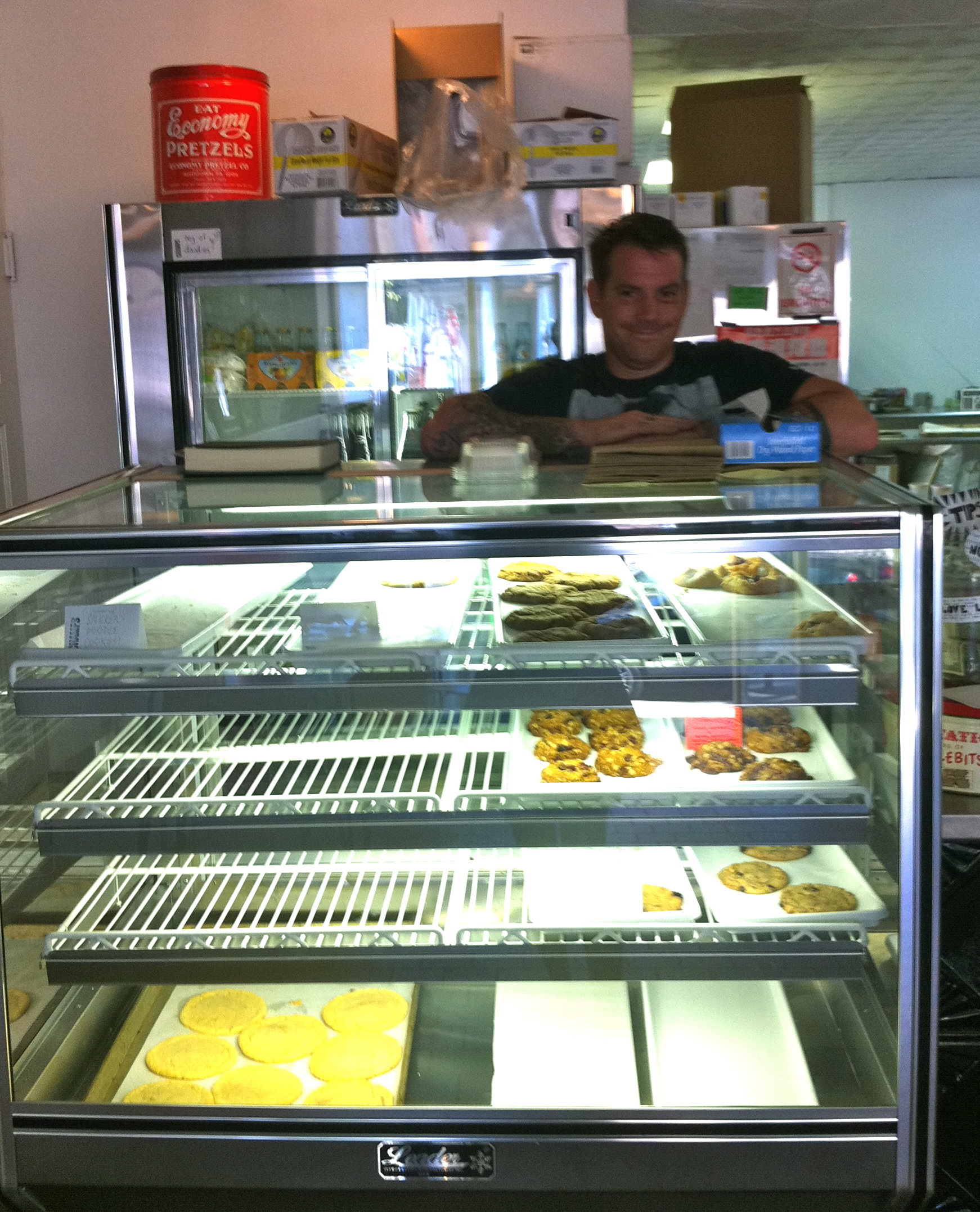 This is Brad in his bakery, totally simple and vegan and awesome.