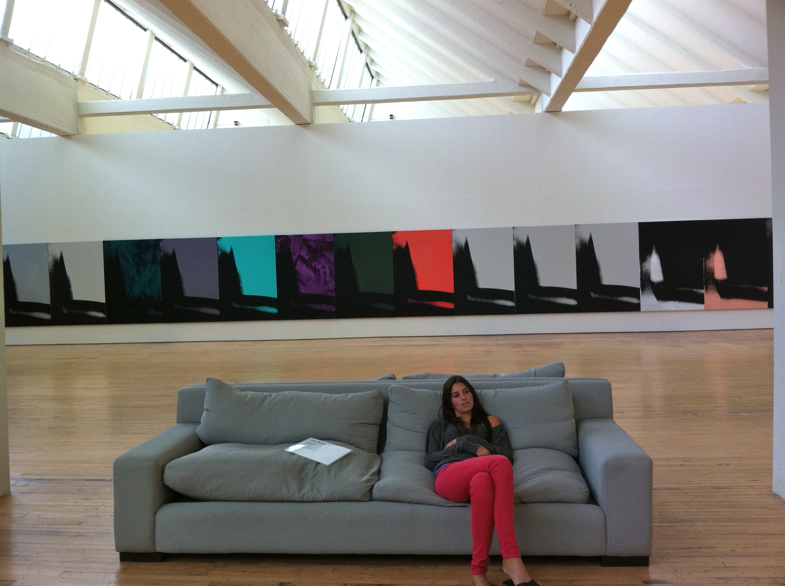 It was pretty fantastic being able to just lounge and look at all the beautiful Warhols at DIA Beacon.